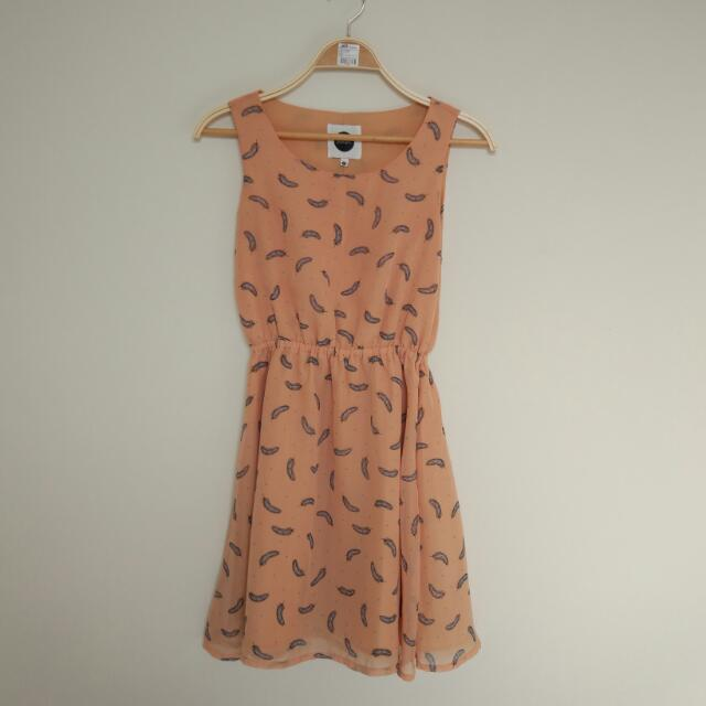 Posh Girl Mini Dress in Peach Fit To M