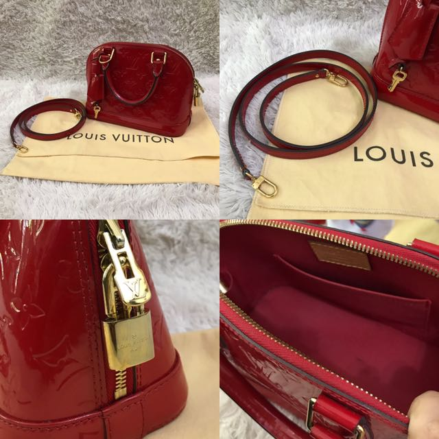 PRELOVED Louis Vuitton Alma BB Vernis, Luxury, Bags   Wallets on Carousell 7e03086a64