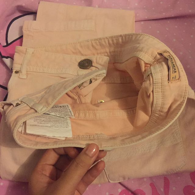 Pull And Bear Pink Smoothie Jeans