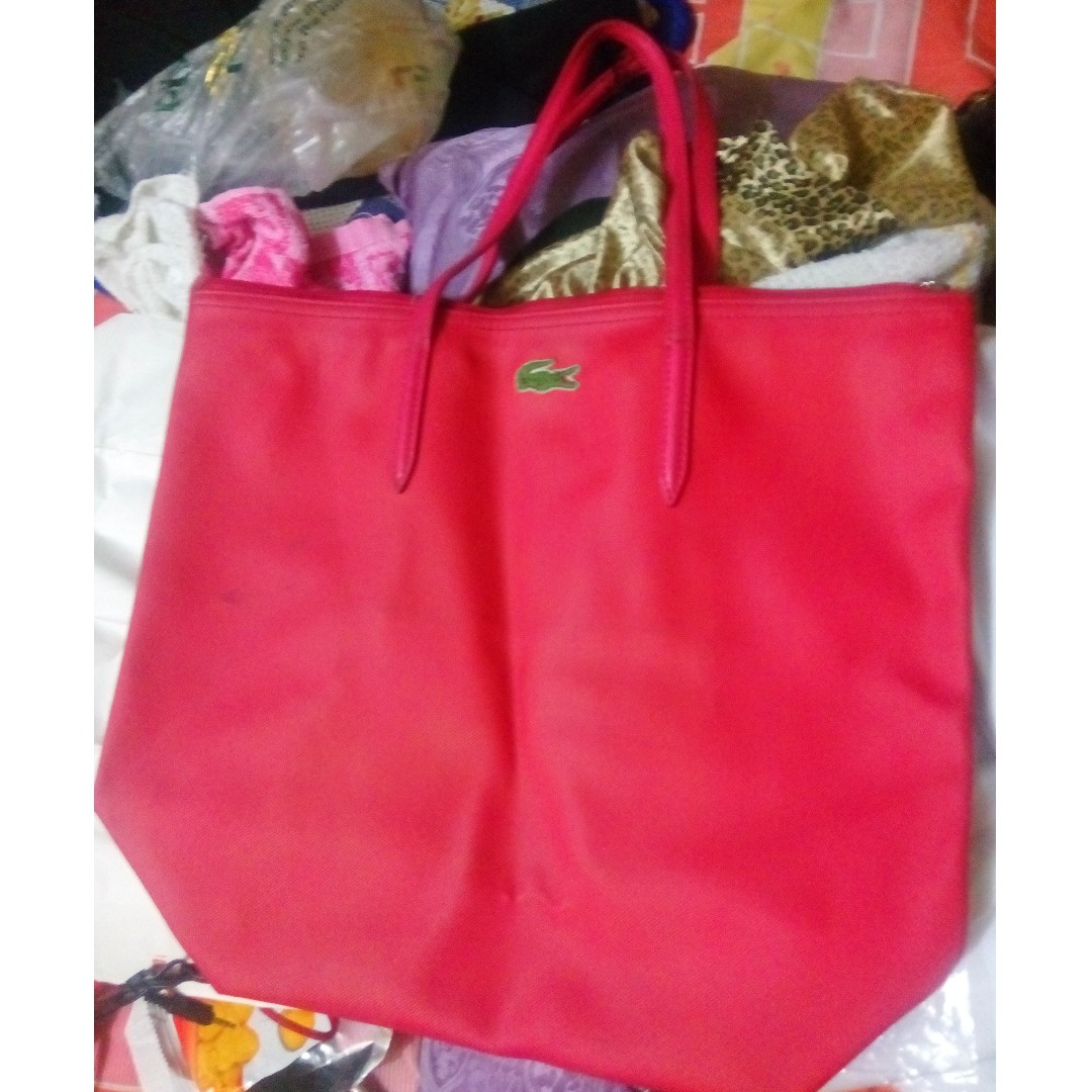repriced! red lacoste bag