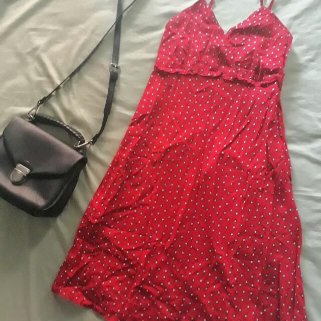 Red Printed Dress