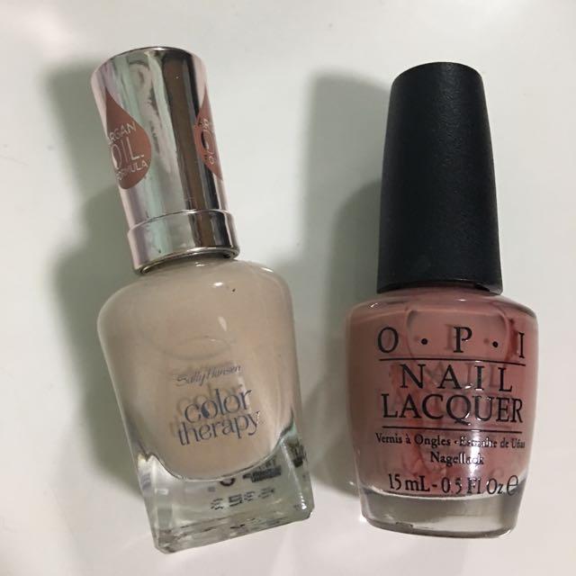sally hansen and opi nail polish