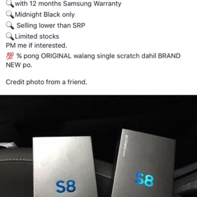 Samsung S8 Midnight Black 64GB