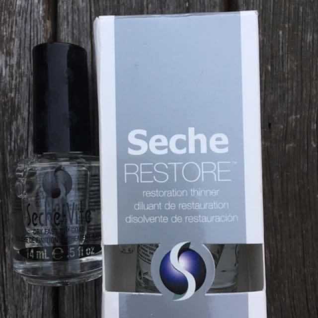 Seche Vite dry fast top coat & nail polish restore, Health & Beauty ...