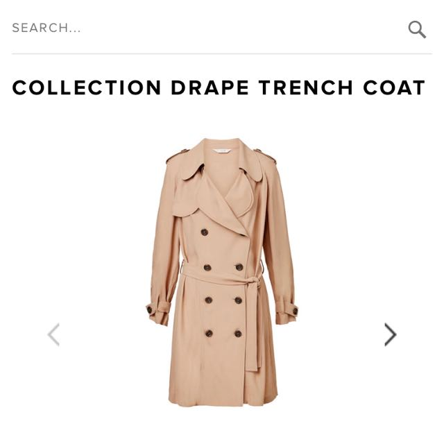 Seed Heritage Drape Trench Coat - Size 12