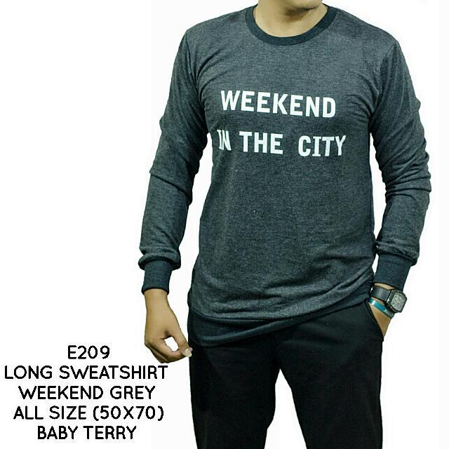 Semi Sweater Cowok / Baju Kaos Lengan Panjang / Fashion Pakaian Pria Murah