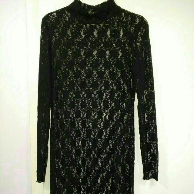 Size Large Black Lace Dress