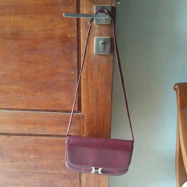 Sling Bag Marun Leather