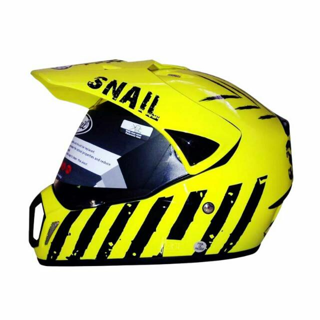 Snail MX-310 Limited Edition Kuning Helm Motocross (L)