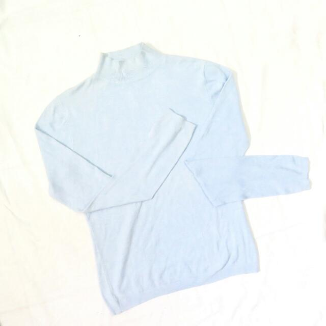 Soft Blue Turtleneck