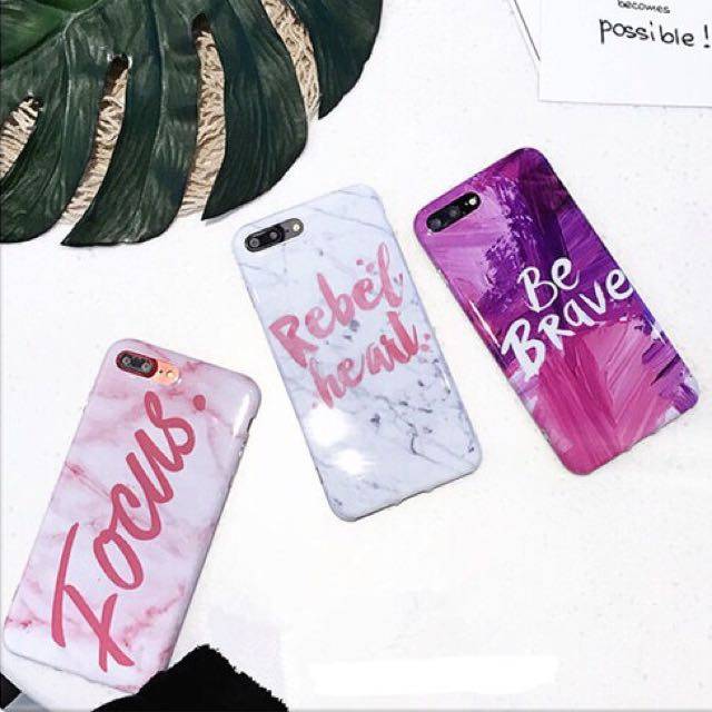 (Soft) Marble Word Writing Cute Simple Case Casing iPhone 6/6s/6 Plus/7/7 Plus Graffiti Painting Colour Water