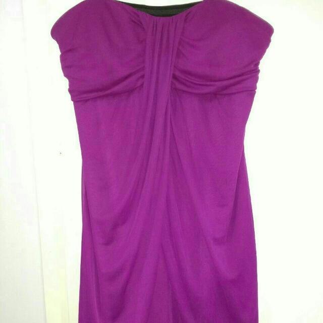 Strapless Magenta Dress Size Xlarge