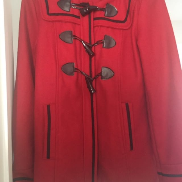 Stunning Red Dotti Duffel Coat