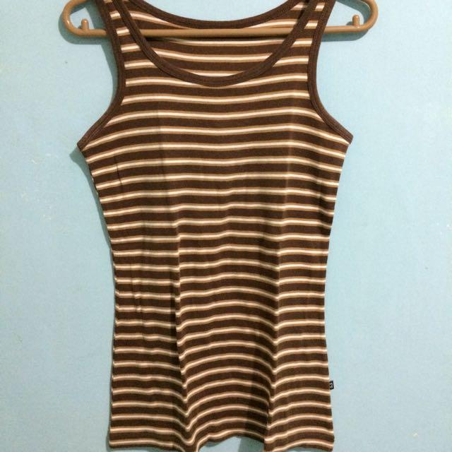 Tanktop Stripes Brown
