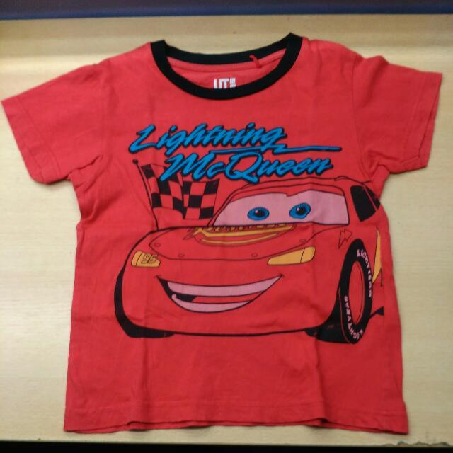 Uniqlo Boys Shirt Cars