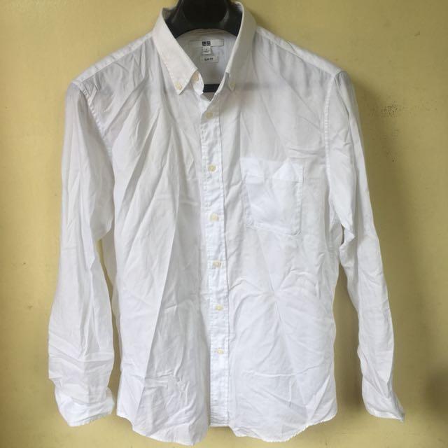 Uniqlo White Longsleeves (slimfit L)