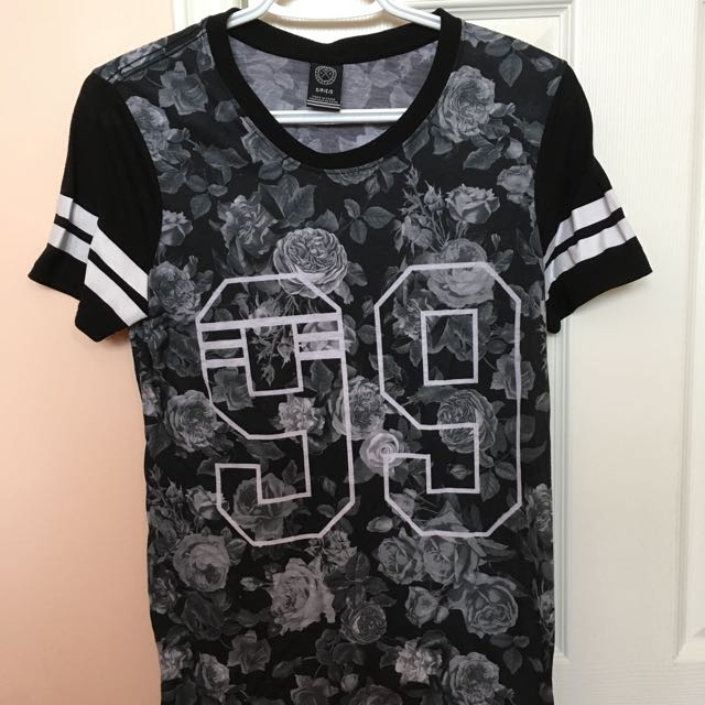 Urban Planet Black & White Floral Tee