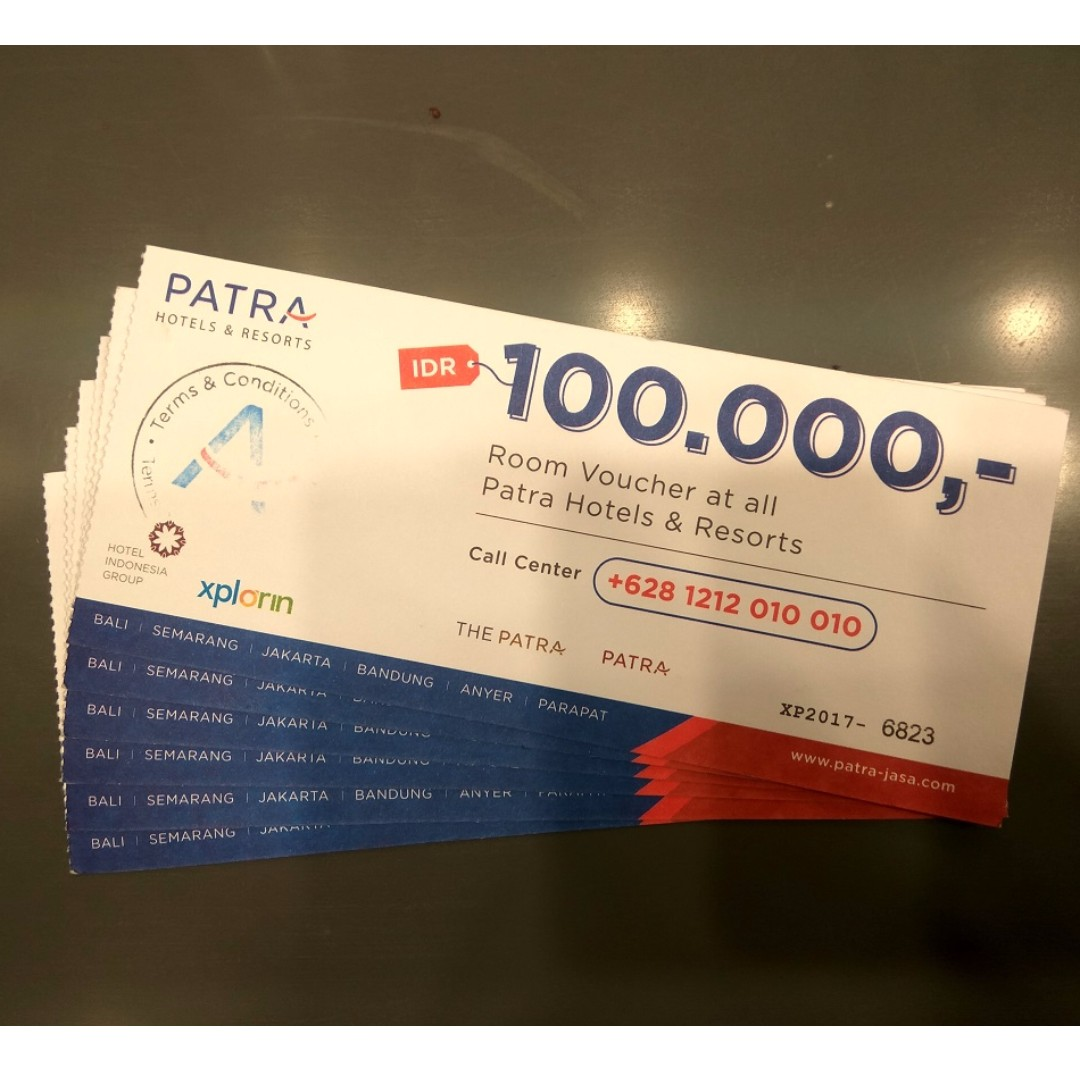 Voucher Hotel Patra Jasa Tickets Vouchers Gift Cards Stok Baru Carrefour Rp 100000 On Carousell