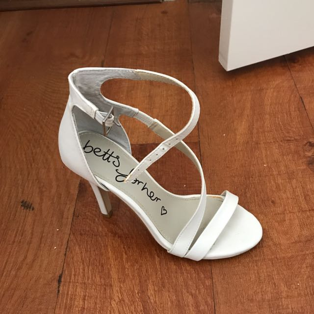Worn ONCE Betts White Heels