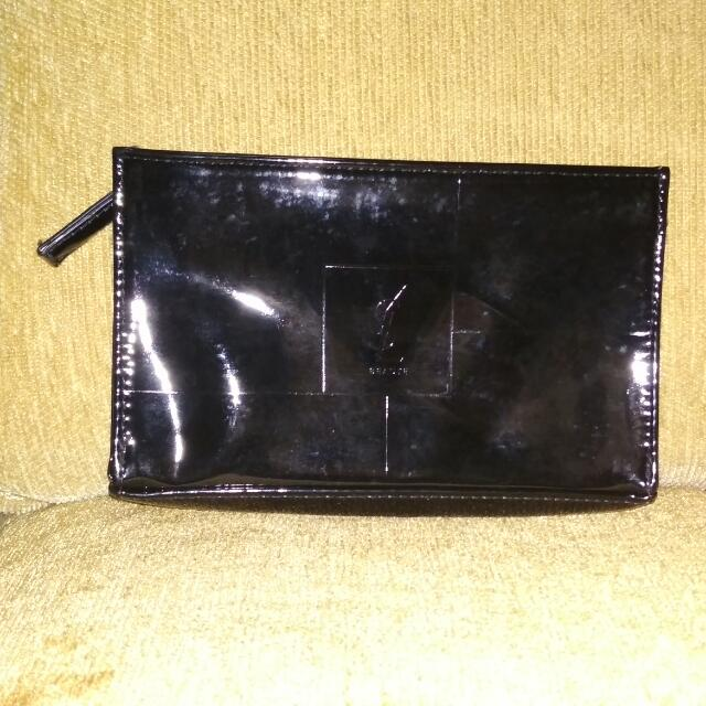 YSL MAKEUP POUCH BLACK