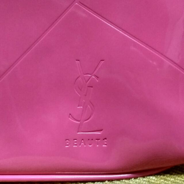YSL MAKEUP POUCH PINK