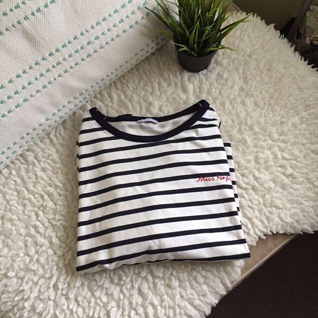 Zara boxy striped long sleeve 🥑