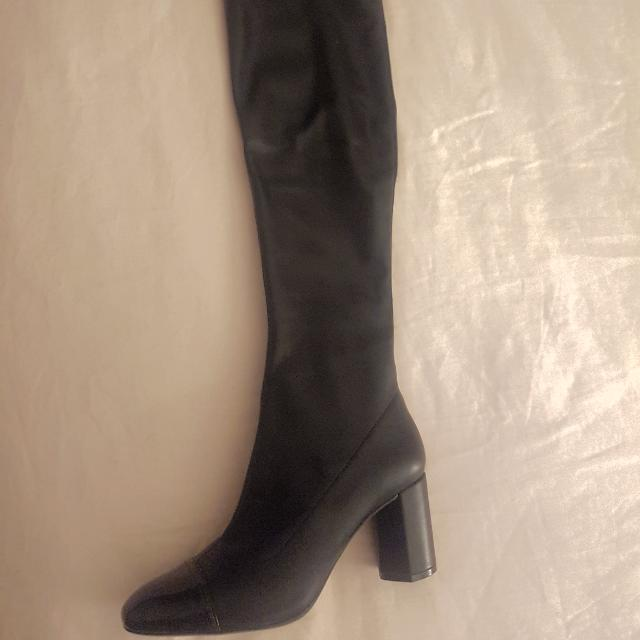 Zara Over The Knee Faux Leather Boots Size 8