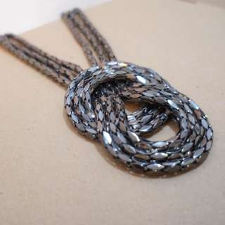 Long Thick Chains Necklace