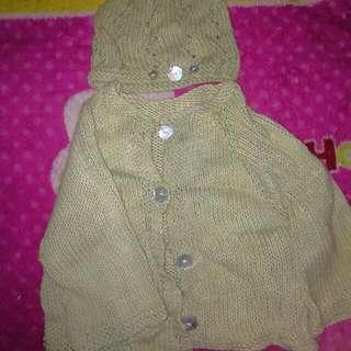 Knitted Jacket Wid Hood