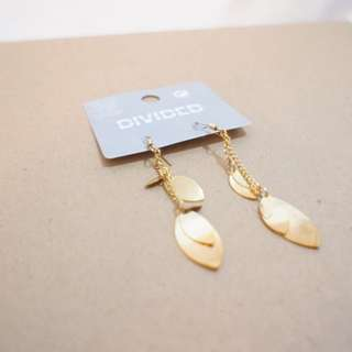 H&M Golder Leaves Earrings