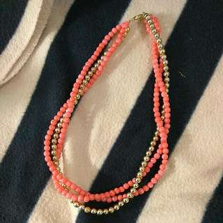 Layered Beaded Short Necklace