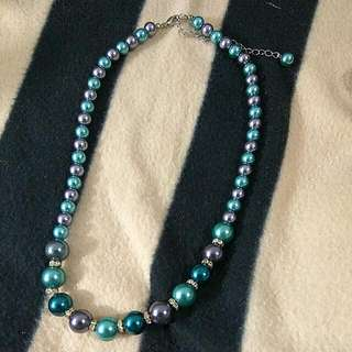 Beaded Necklace With Stones.