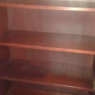 Bookcase - Birch wood Mahogany finish