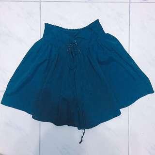 高腰縮口褲裙
