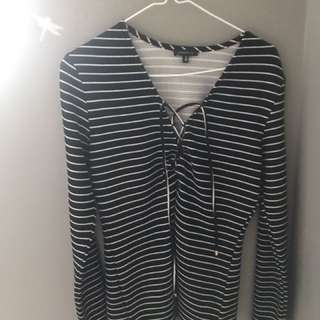 Striped Lace-Up