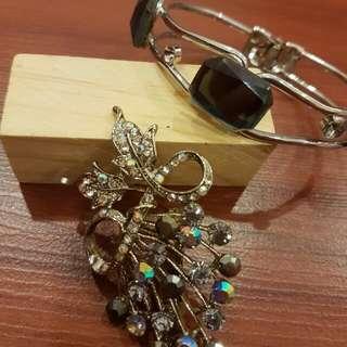 Brooch & Bracelet