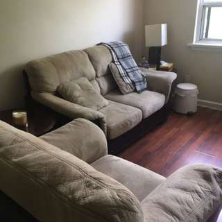 SET OF BROWN COUCHES