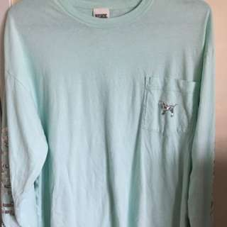 Pink VICTORIA Secret Teal long sleeve