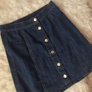Mini Denim Skirt