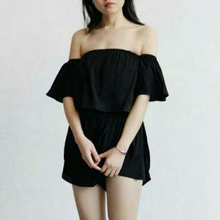 Ready Stock Off Shoulder Jumpsuit