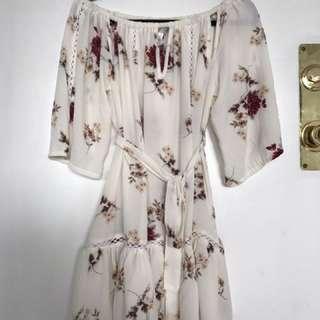 Floral Off Shoulder Dress (s/m)