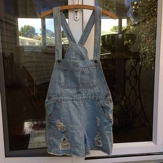 Cute Ripped Denim Overalls