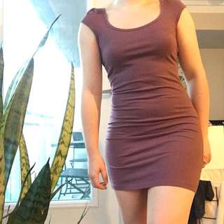 H&M Maroon/Purple Fitted Dress