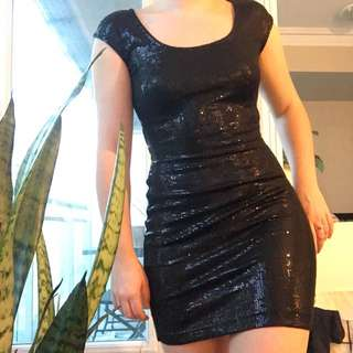 Dynamite Black Sequin Dress