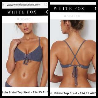 White Fox Boutique Swim Wear Zulu Bikini Top