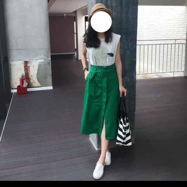正韓1025方釦腰帶排釦裙