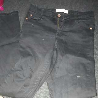 Black Skinny Jeans Pants