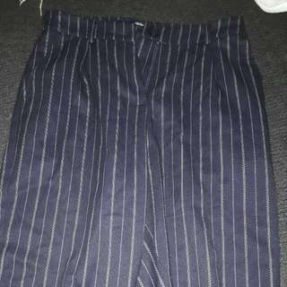 Pants Navy Pin Strip