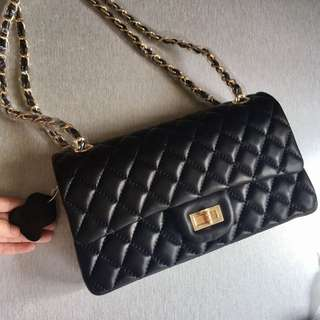 CHANEL INSPIRED LEATHER BAG