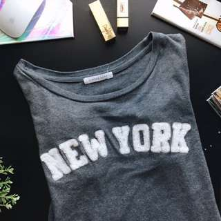 New York Dark Grey Tee